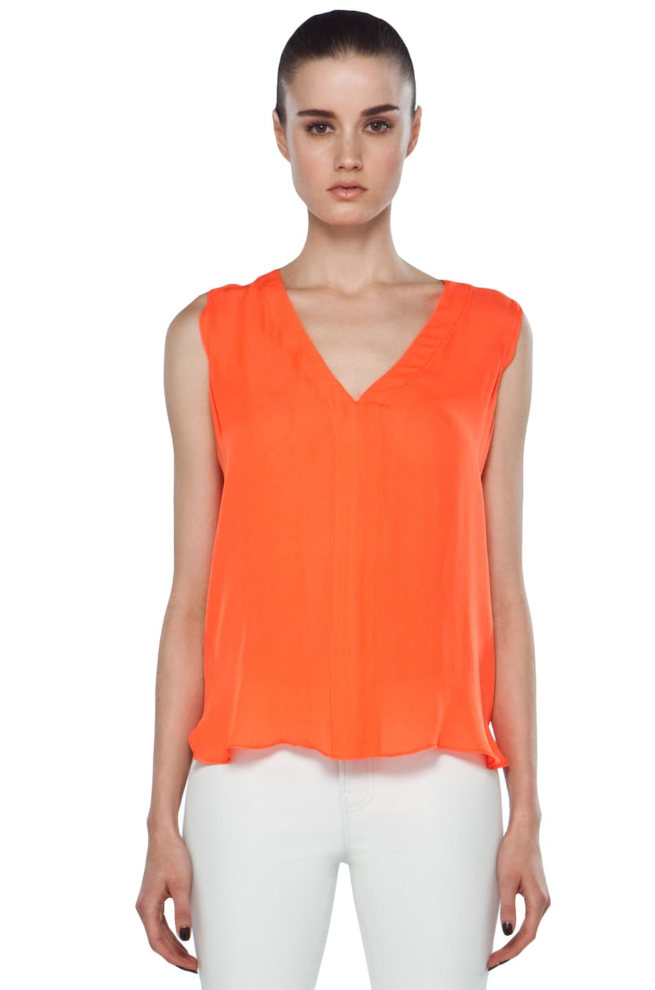 Image 1 of A.L.C. Sleeveless Diana Top in Safety Orange