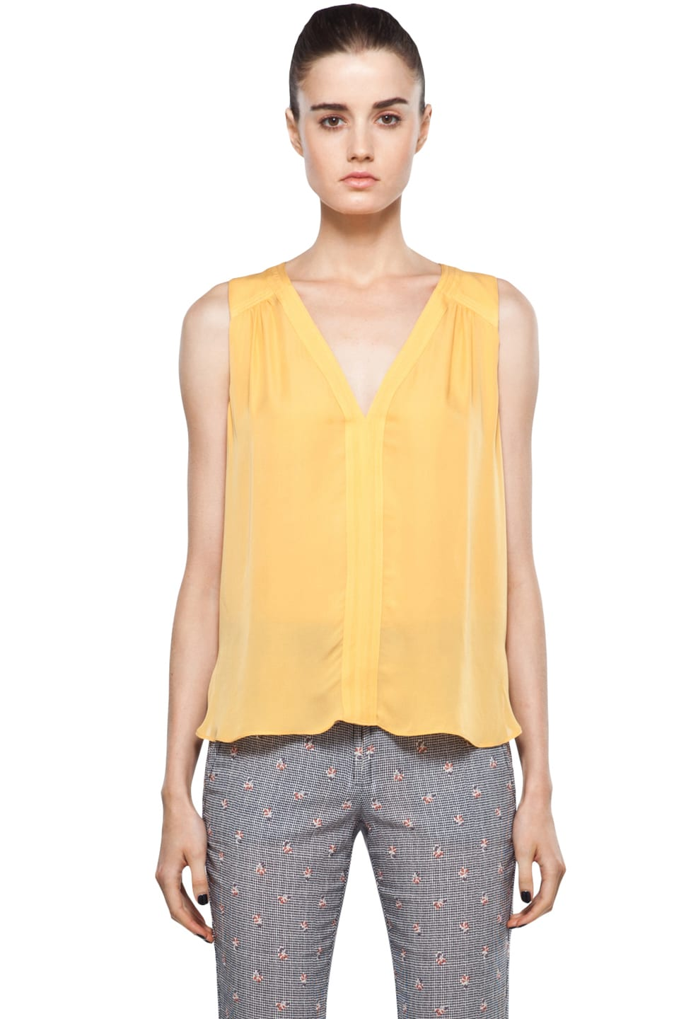 Image 1 of A.L.C. Gracie Blouse in Mandarin