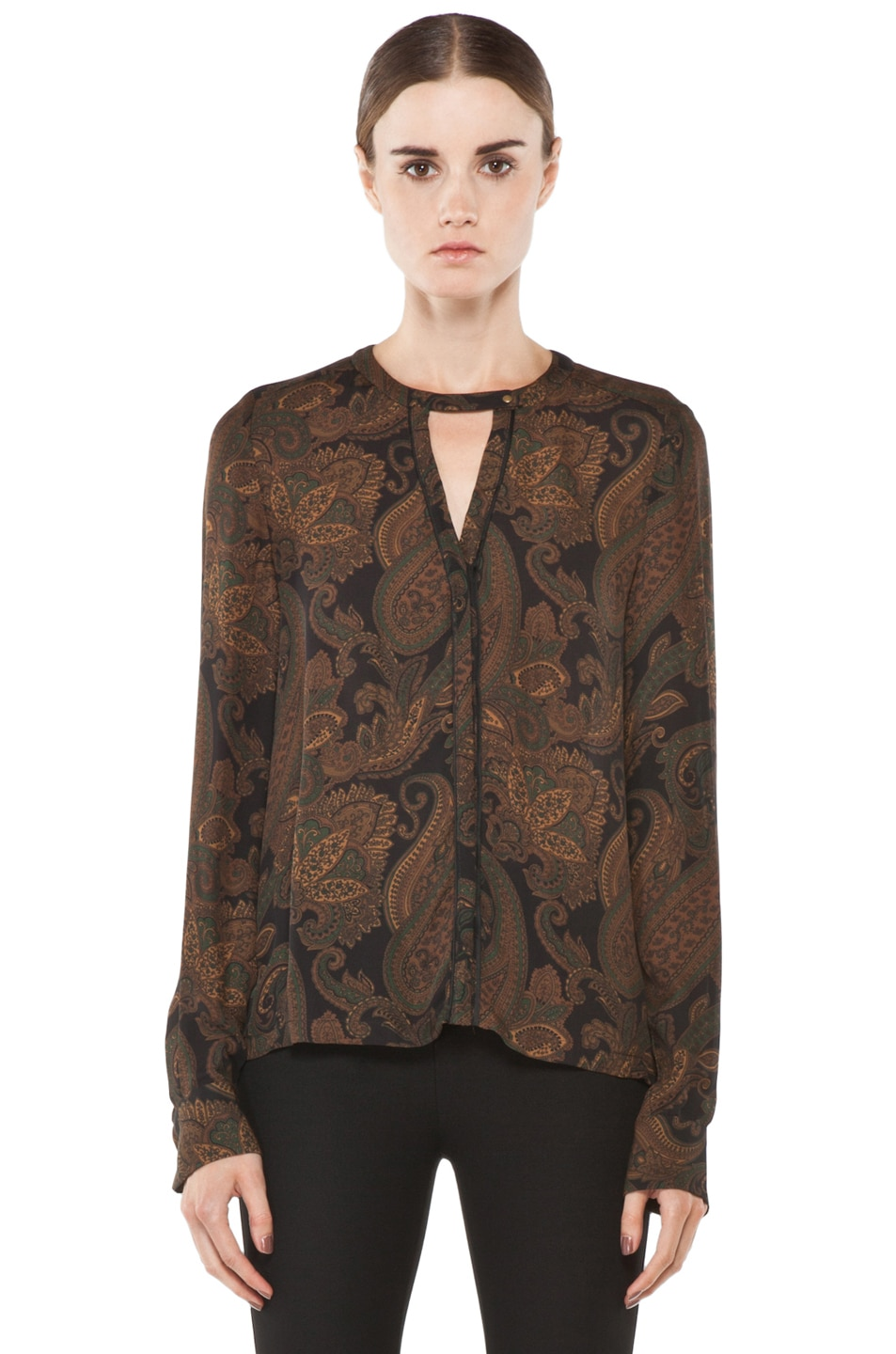 Image 1 of A.L.C. Ari Blouse in Midnight