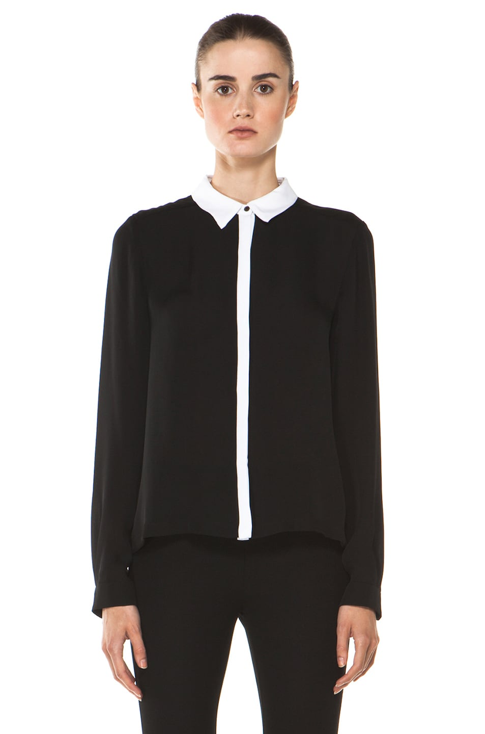 Image 1 of A.L.C. Gillian Blouse in Black