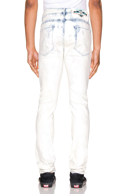 Image 3 of Alchemist Holt Magic City Dip Dyed Jean in White & Light Indigo