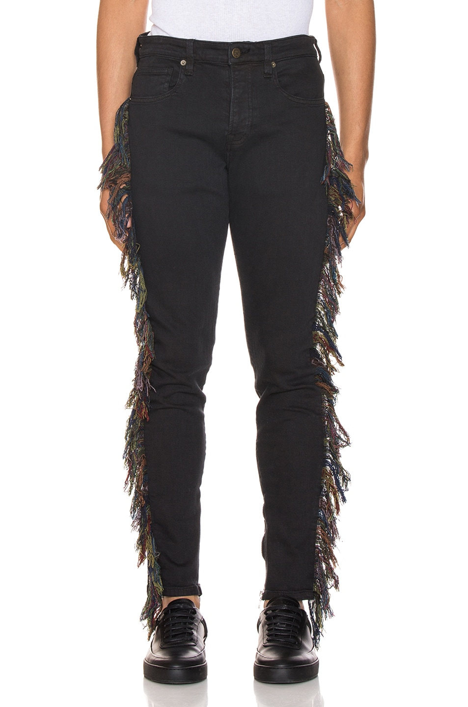 Image 1 of Alchemist x Guess Fringe Jeans in Black