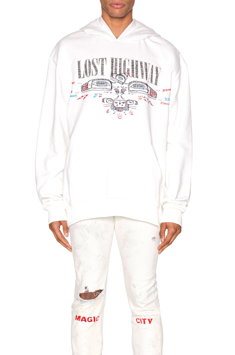 Image 1 of Alchemist Lost Highway Tweed Hoodie in Cream