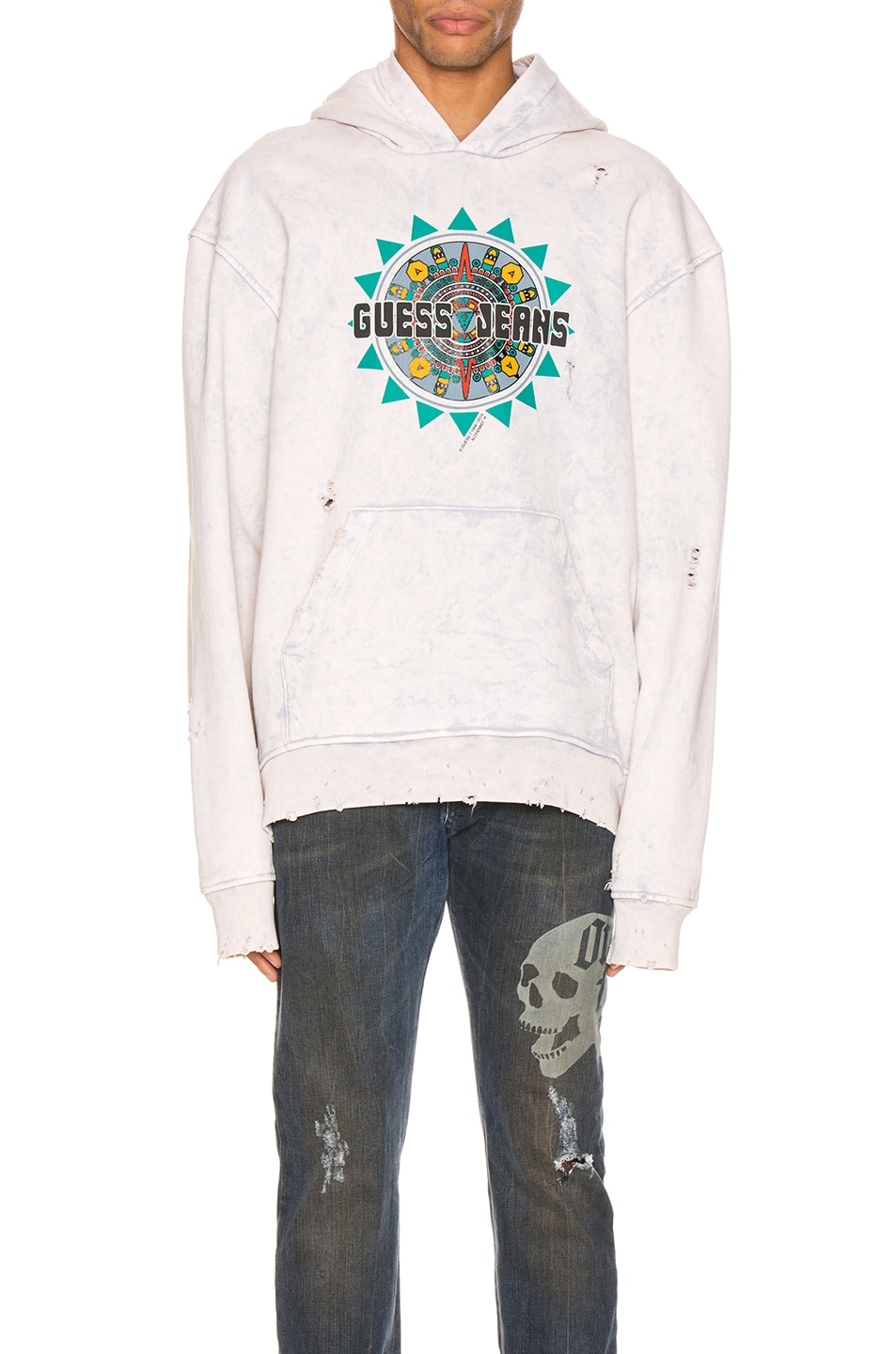 Image 1 of Alchemist x Guess Hoodie in Dirty Cream