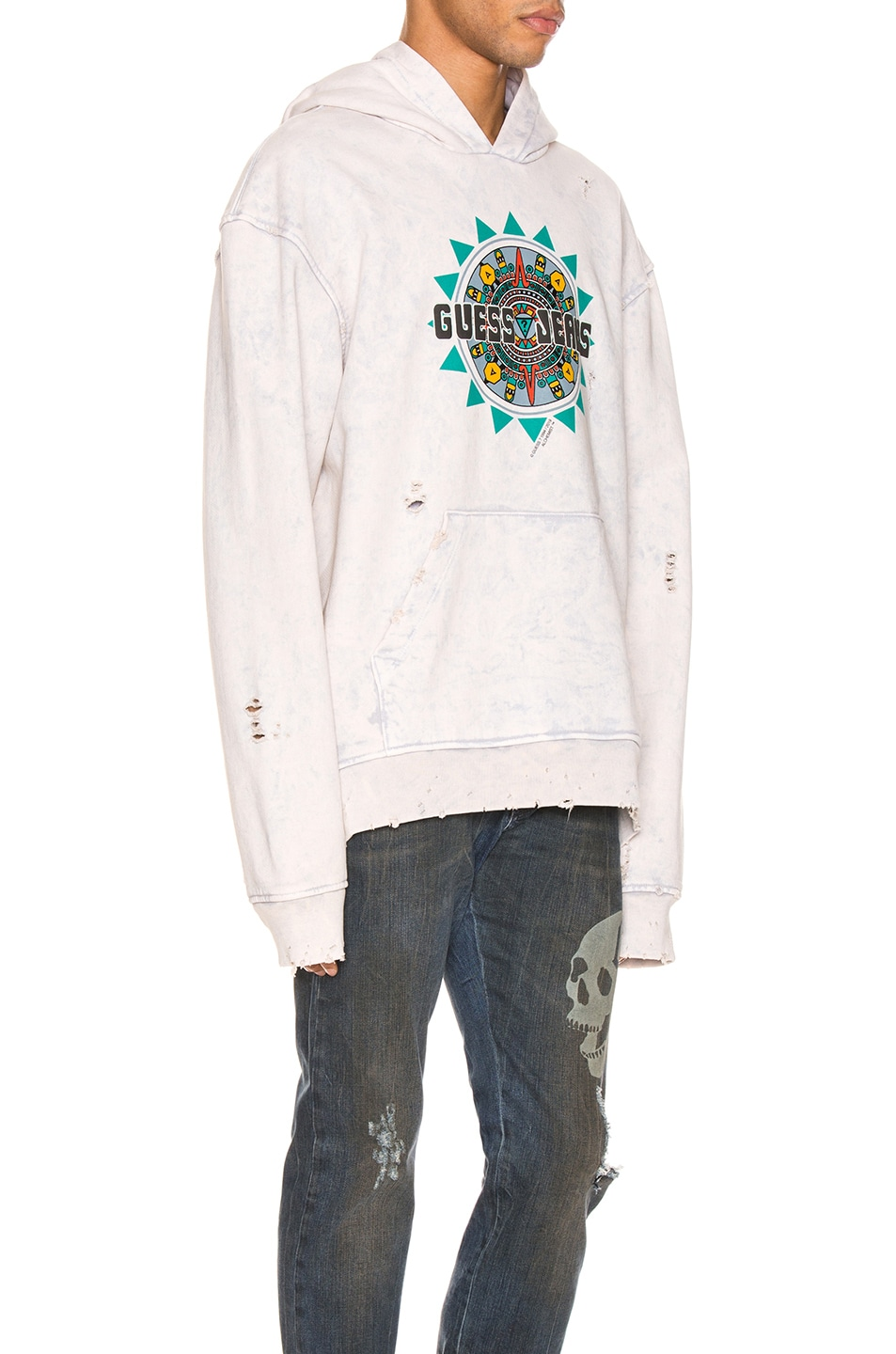 Image 2 of Alchemist x Guess Hoodie in Dirty Cream