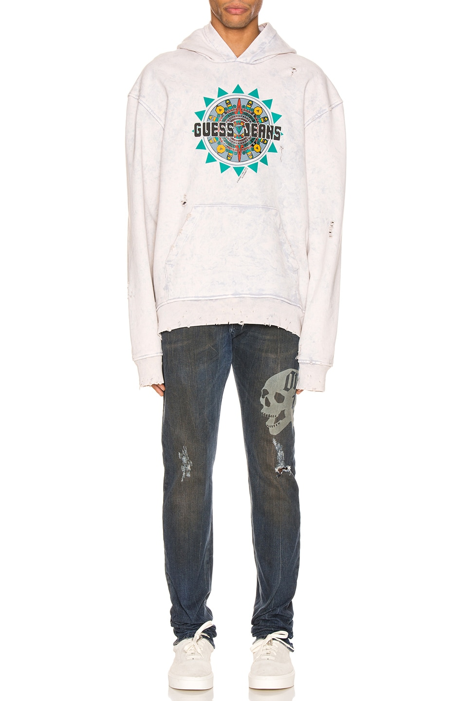 Image 4 of Alchemist x Guess Hoodie in Dirty Cream