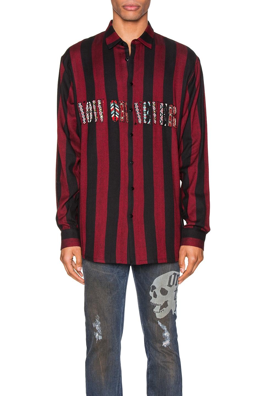 Image 1 of Alchemist Flynn Striped Shirt in Black & Red