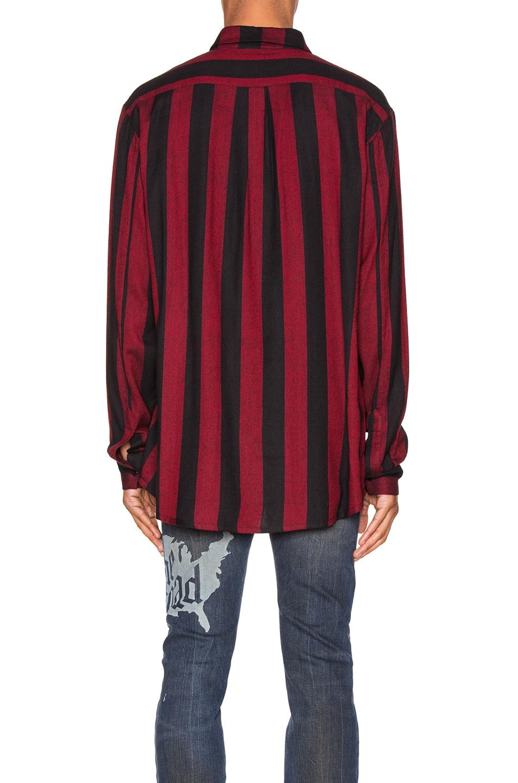 Image 3 of Alchemist Flynn Striped Shirt in Black & Red