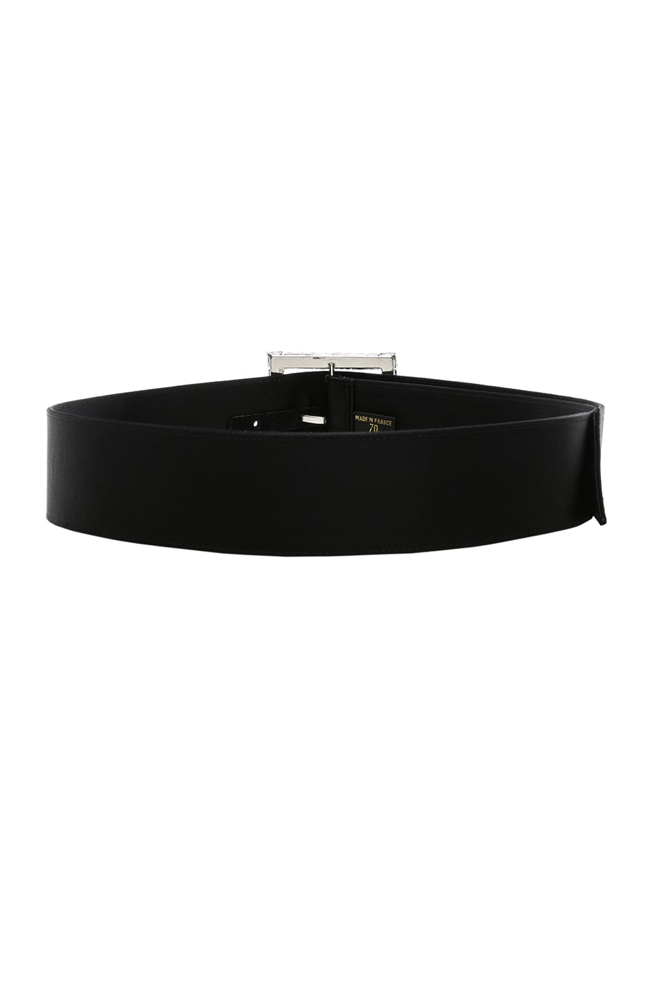 Image 2 of Alexandre Vauthier Crystal Buckle Belt in Black