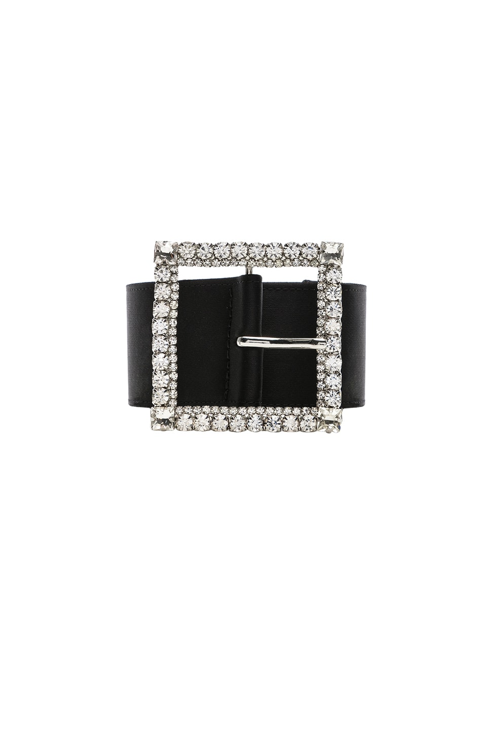 Image 3 of Alexandre Vauthier Crystal Buckle Belt in Black