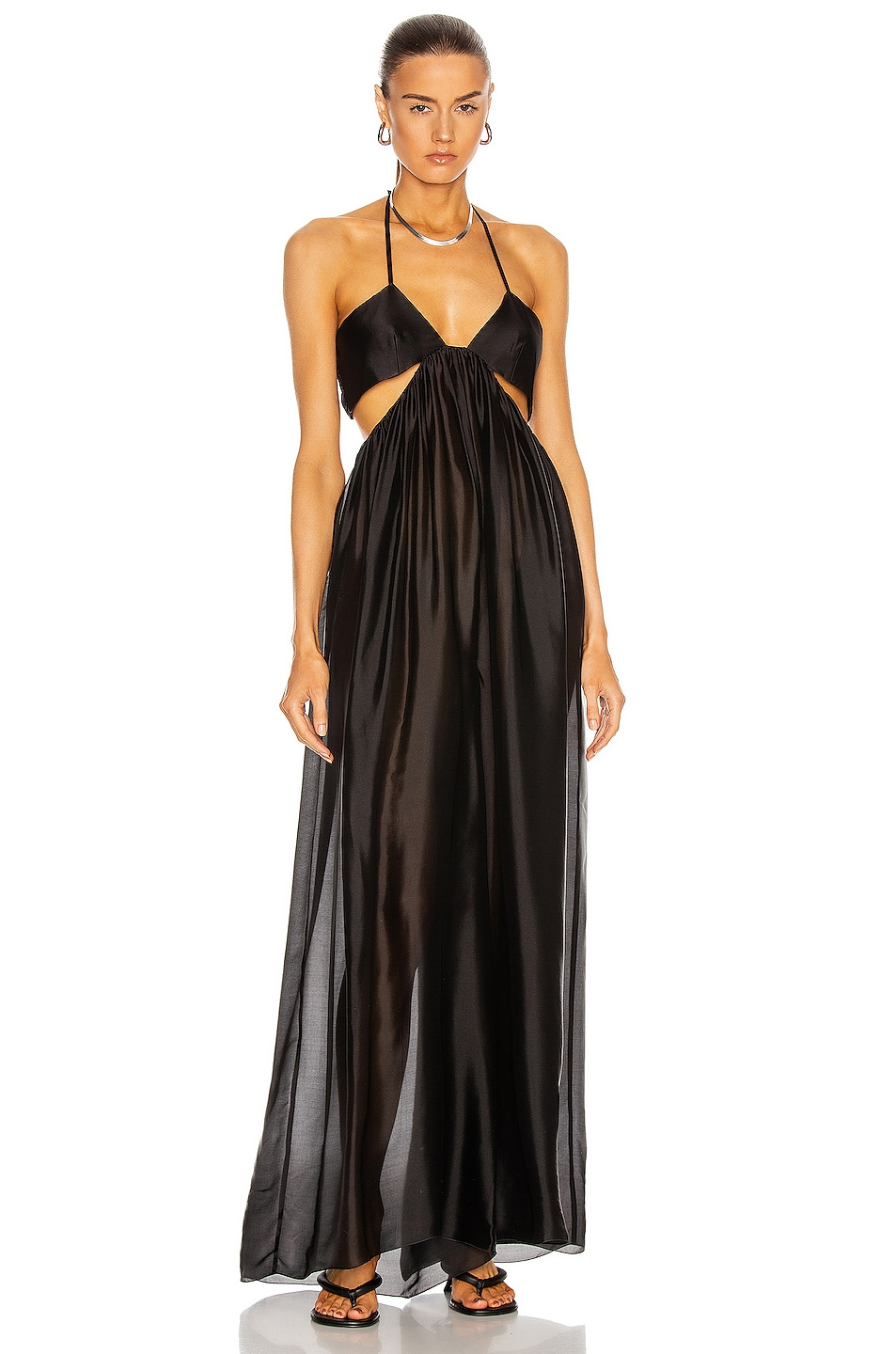 Image 1 of Alexandre Vauthier Flowy Jumpsuit in Black