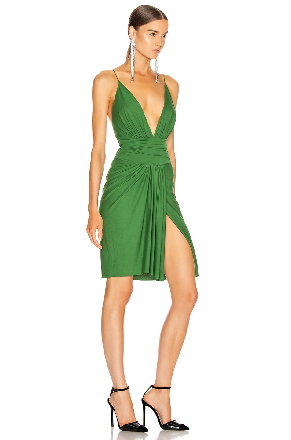 Image 2 of Alexandre Vauthier Stretch Jersey Mini Dress in Moss