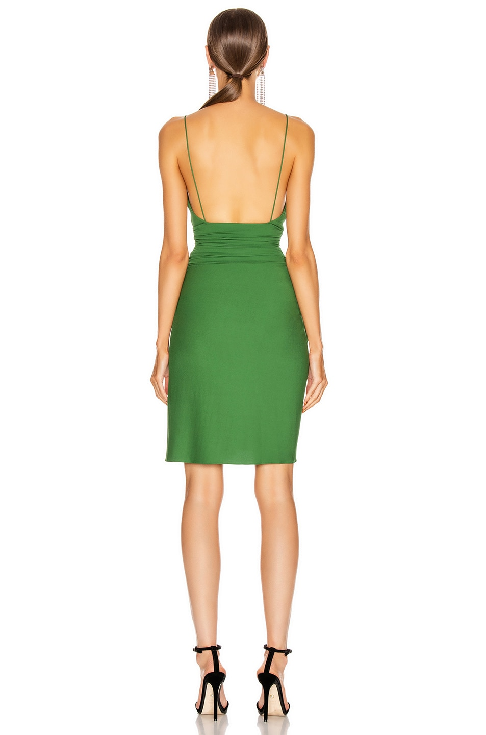 Image 3 of Alexandre Vauthier Stretch Jersey Mini Dress in Moss