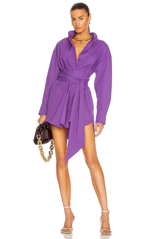 Image 1 of Alexandre Vauthier Shirt Dress in Violet