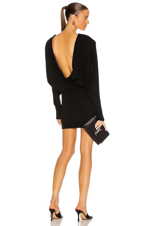 Image 1 of Alexandre Vauthier Dolman Mini Dress in Black