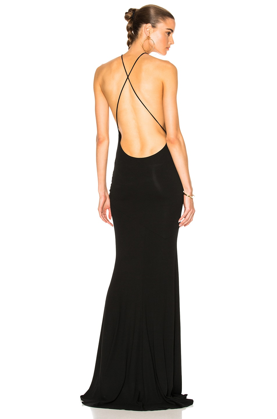 Image 1 of Alexandre Vauthier Cross Back Gown in Black