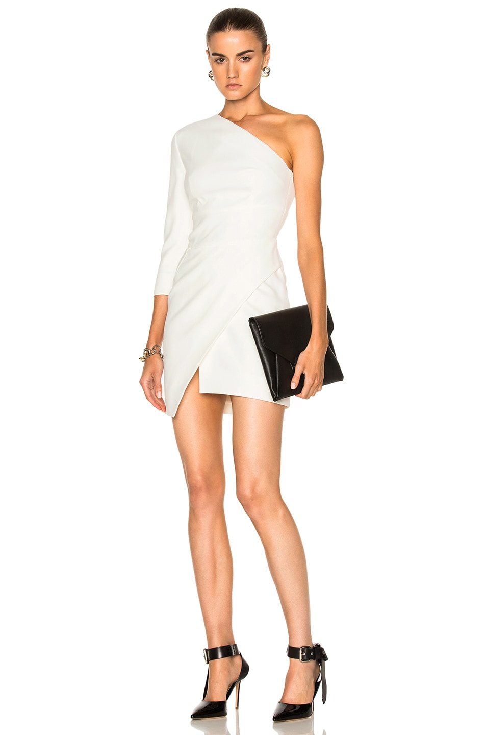 07115dd7c76b Image 1 of Alexandre Vauthier Cady One Shoulder Dress in Off White
