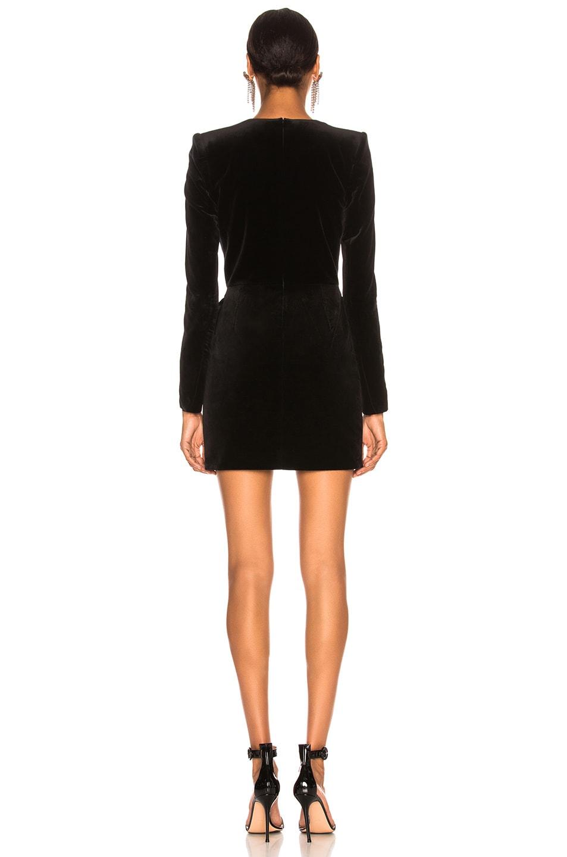 Image 4 of Alexandre Vauthier Velvet Mini Dress in Black
