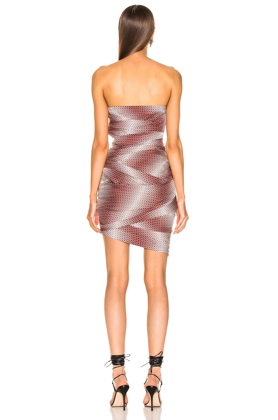 Image 4 of Alexandre Vauthier Dot Twill Strapless Dress in Ruby