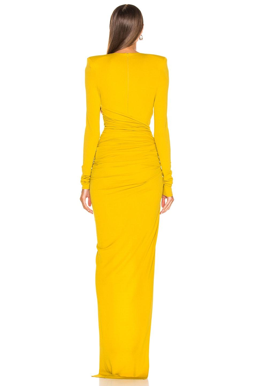 Image 4 of Alexandre Vauthier Jersey Side Slit Dress in Goldenrod