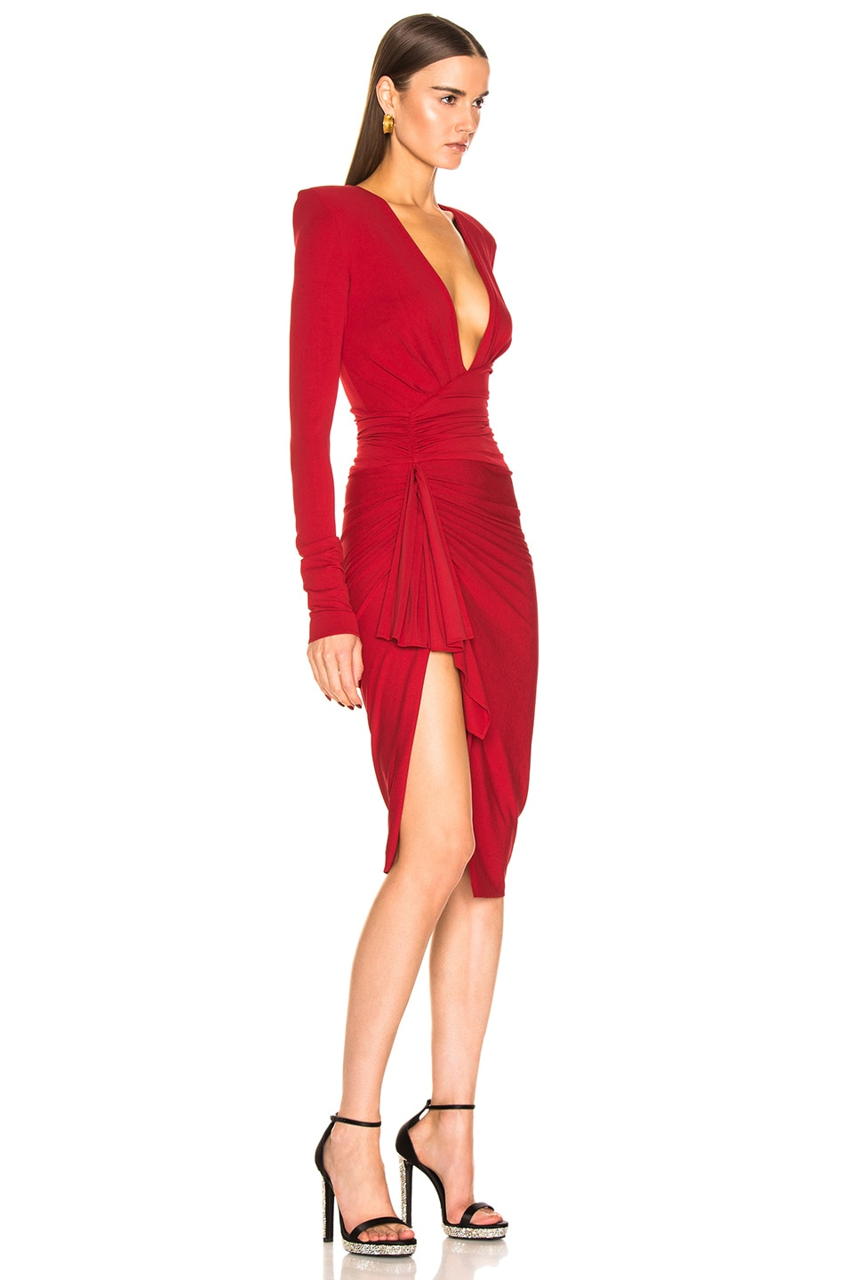 Image 2 of Alexandre Vauthier Jersey Mini Dress in Ruby
