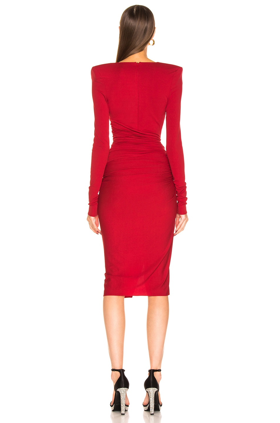 Image 4 of Alexandre Vauthier Jersey Mini Dress in Ruby
