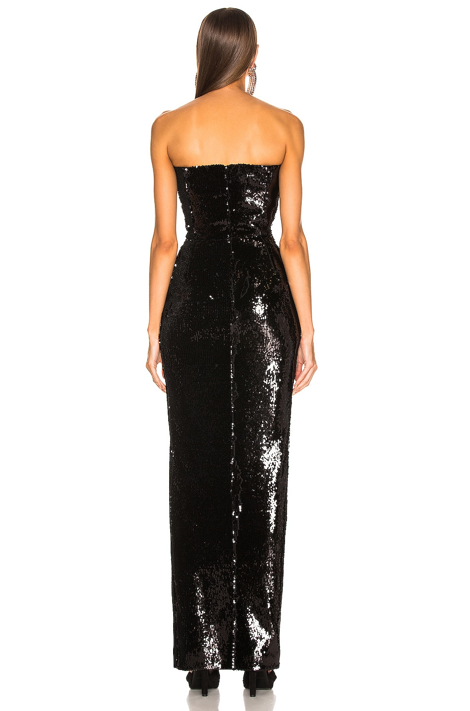 Image 3 of Alexandre Vauthier Strapless Sequin Gown in Black