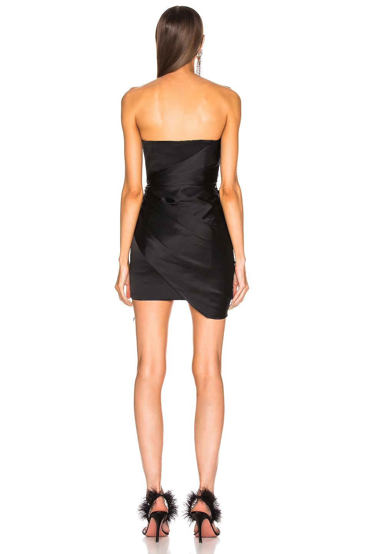 Image 4 of Alexandre Vauthier Strapless Wrap Mini Dress in Black