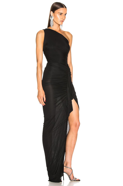 Image 2 of Alexandre Vauthier One Shoulder Maxi Dress in Black