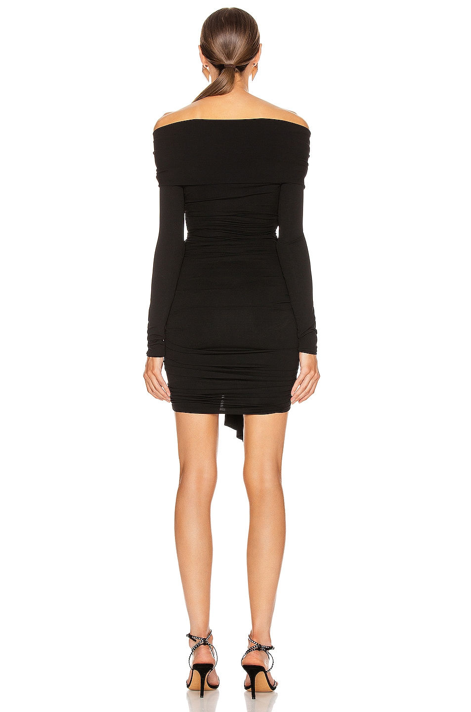 Image 3 of Alexandre Vauthier Ruched Tie Mini Dress in Black