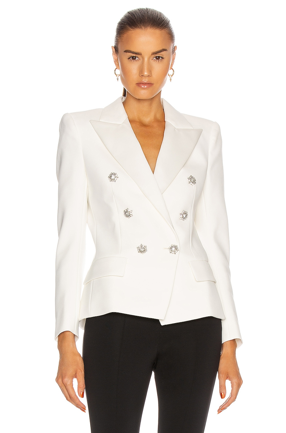 Image 1 of Alexandre Vauthier Compact Blazer in Off White