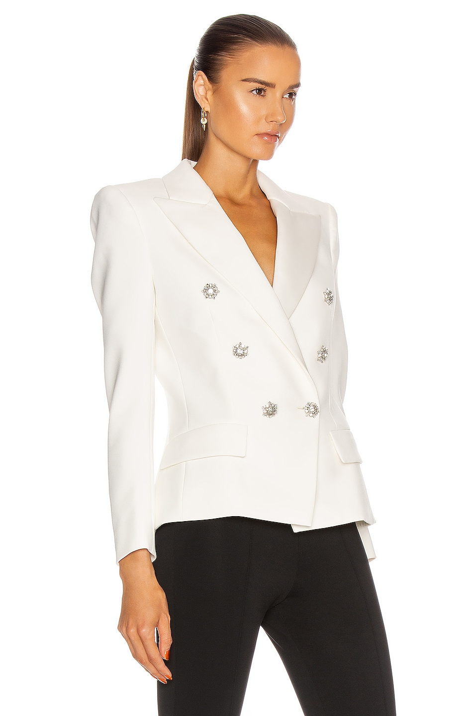 Image 2 of Alexandre Vauthier Compact Blazer in Off White