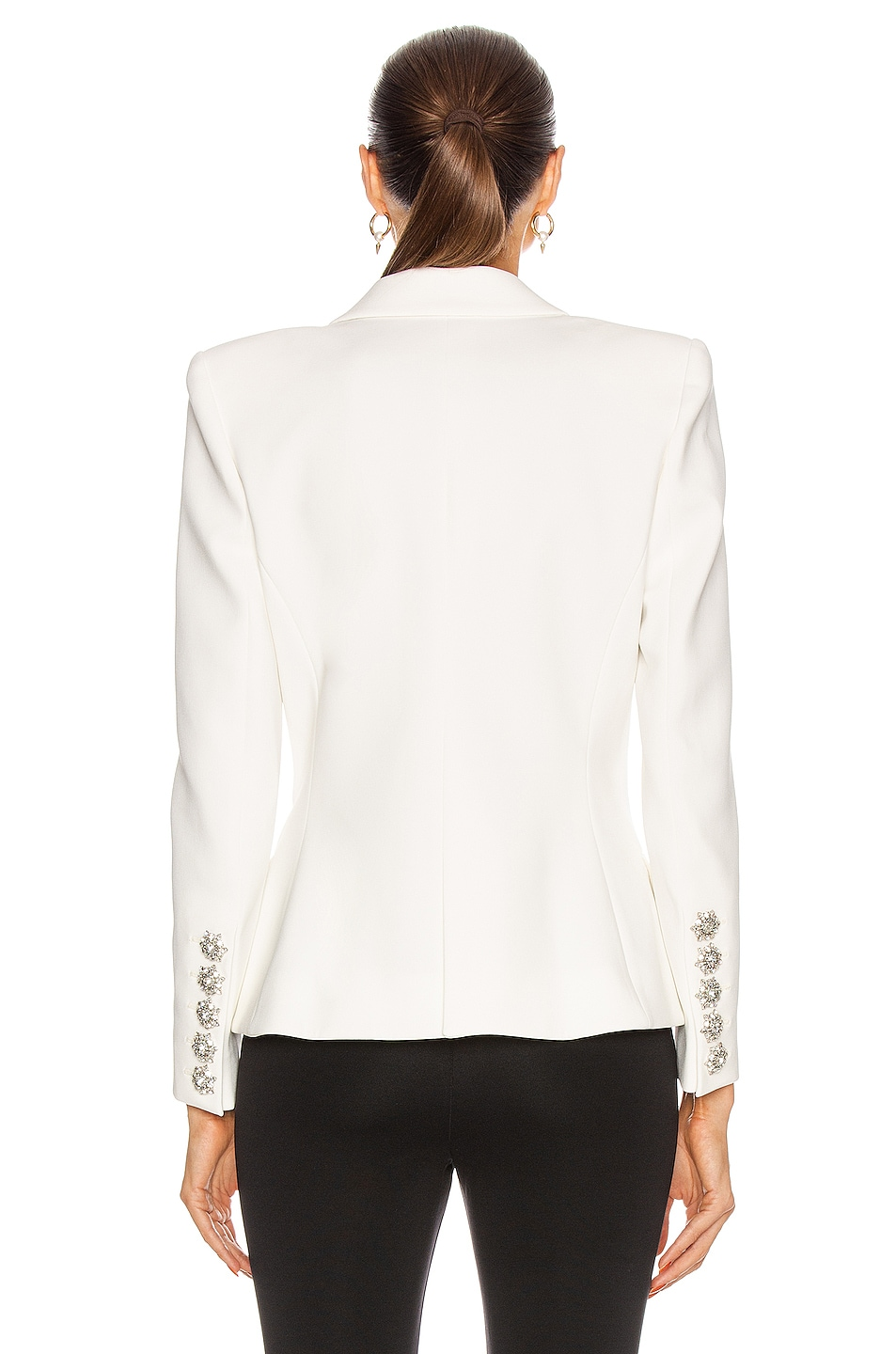 Image 3 of Alexandre Vauthier Compact Blazer in Off White