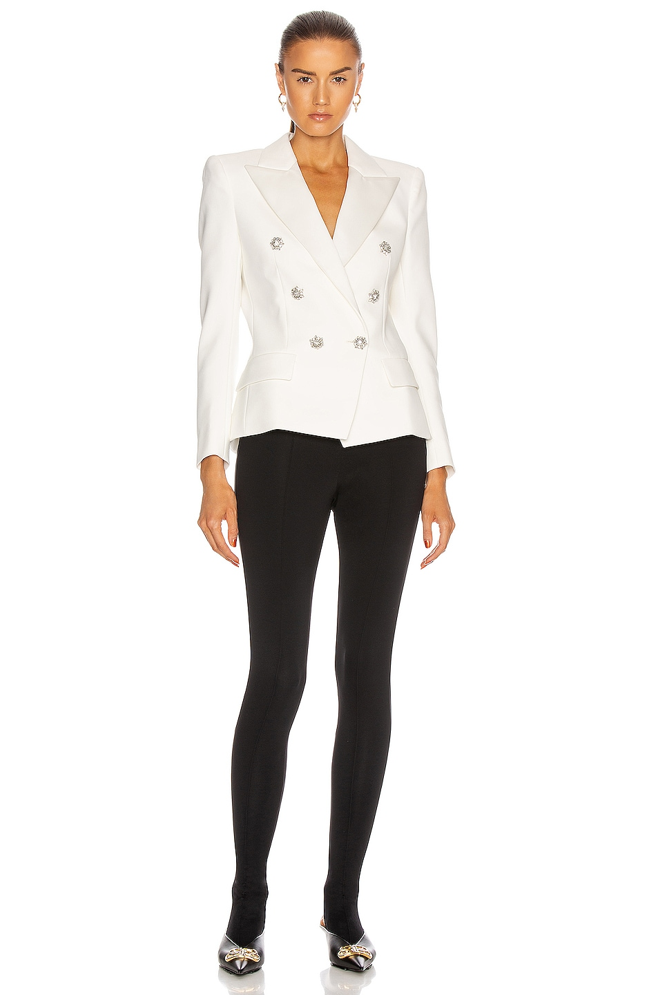 Image 4 of Alexandre Vauthier Compact Blazer in Off White
