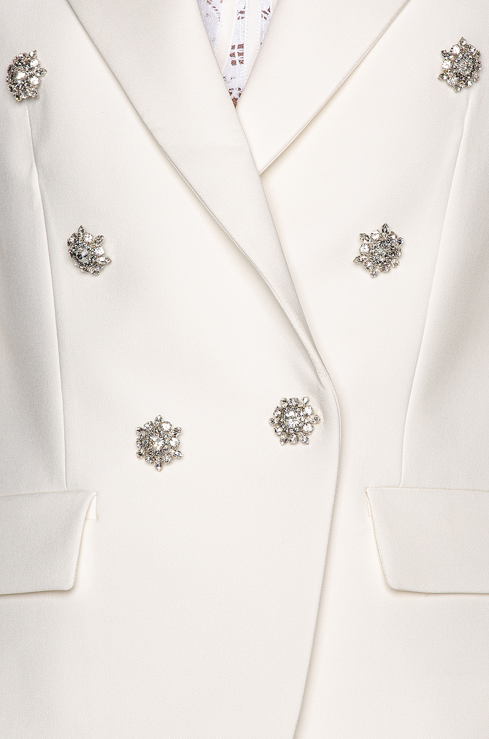Image 6 of Alexandre Vauthier Compact Blazer in Off White