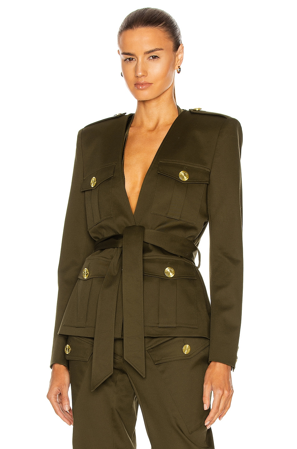 Image 1 of Alexandre Vauthier Military Jacket in Bronze