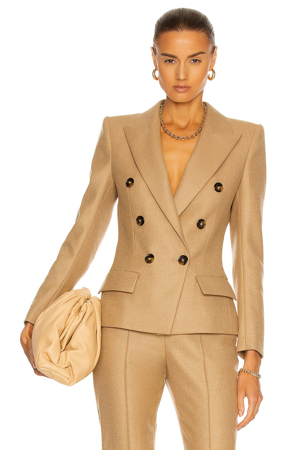 Image 1 of Alexandre Vauthier Double Breasted Blazer Jacket in Beige