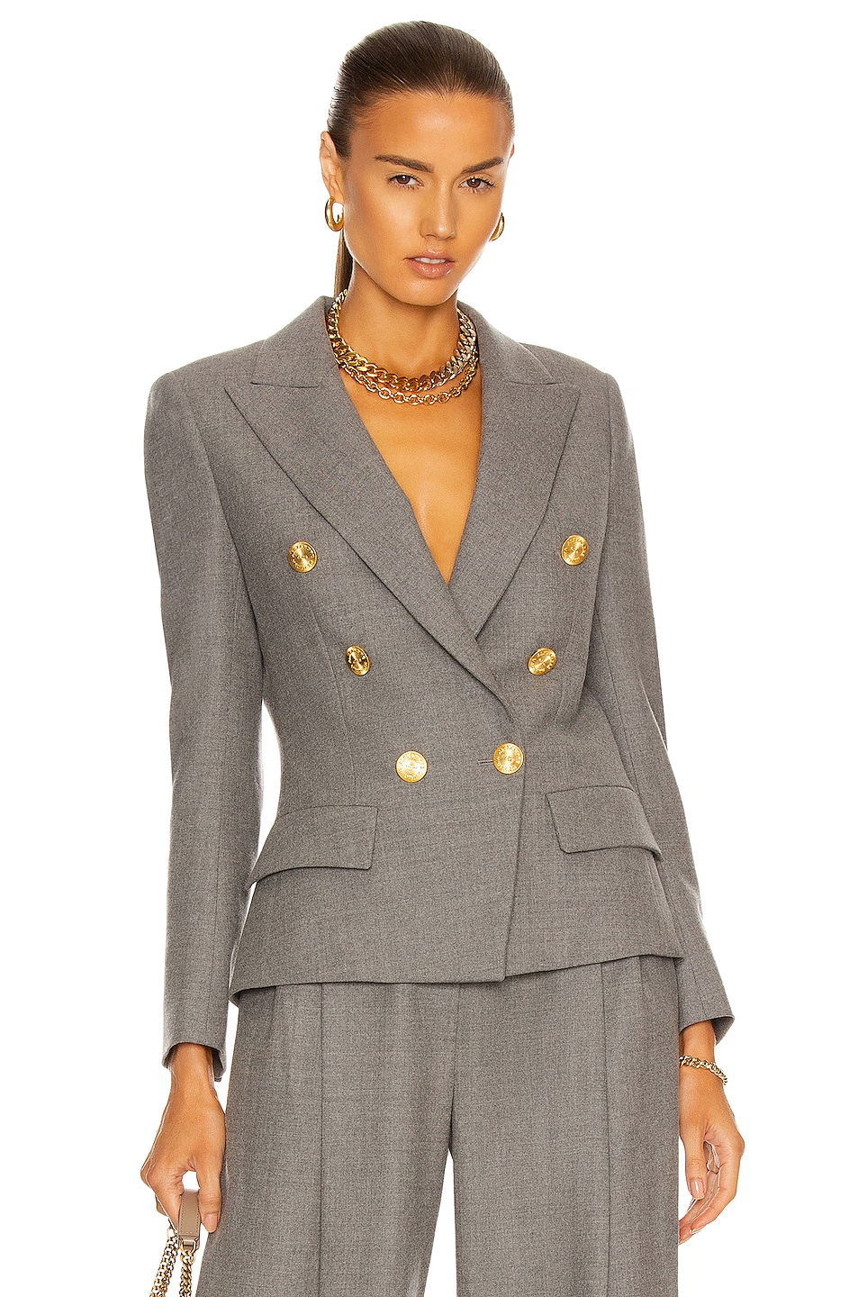 Image 1 of Alexandre Vauthier Double Breasted Blazer in Grey