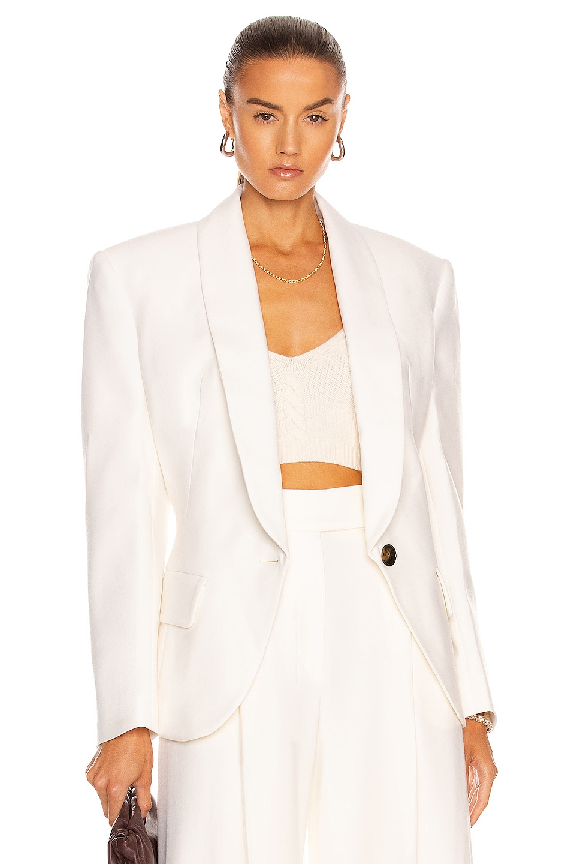 Image 1 of Alexandre Vauthier Oversized Blazer in Off White