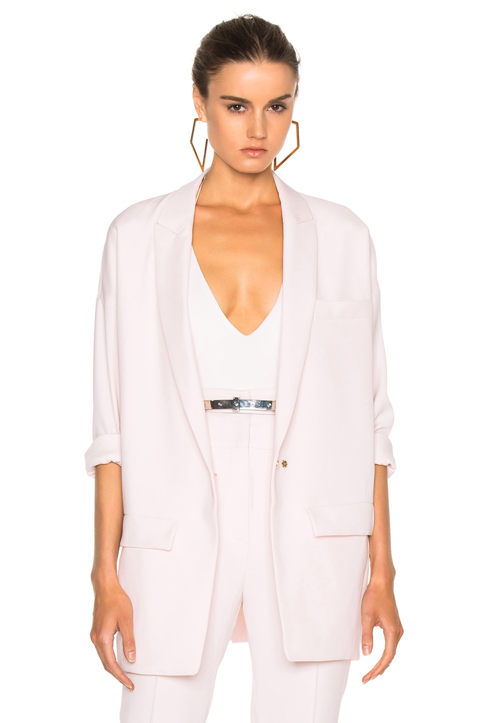 Image 1 of Alexandre Vauthier Japanese Crepe Oversize Blazer in Lilac
