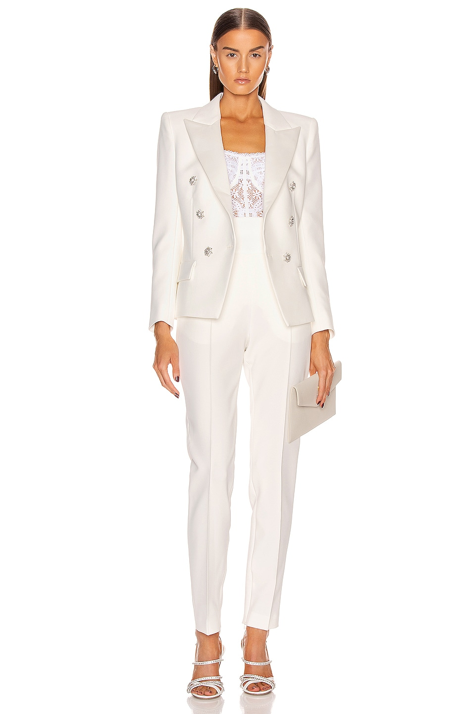 Image 4 of Alexandre Vauthier Compact Pant in Off White