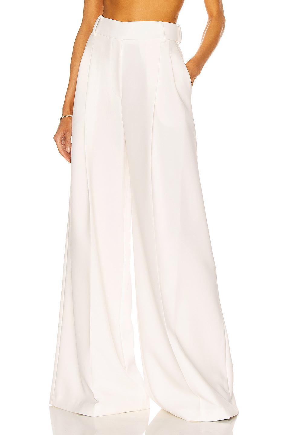 Image 1 of Alexandre Vauthier Wide Leg Pant in Off White