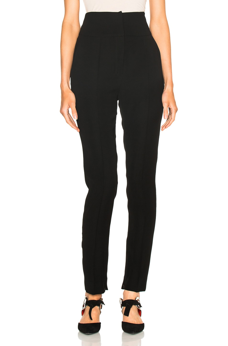 Image 1 of Alexandre Vauthier Japanese Crepe Trousers in Black