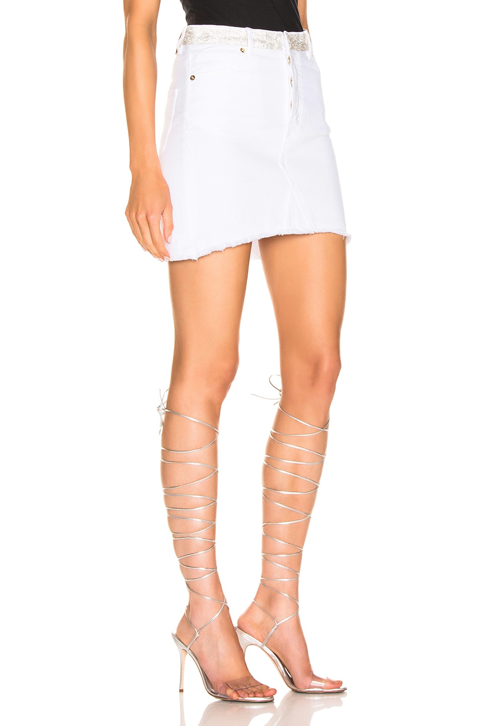 Image 2 of Alexandre Vauthier Denim Mini Skirt in White