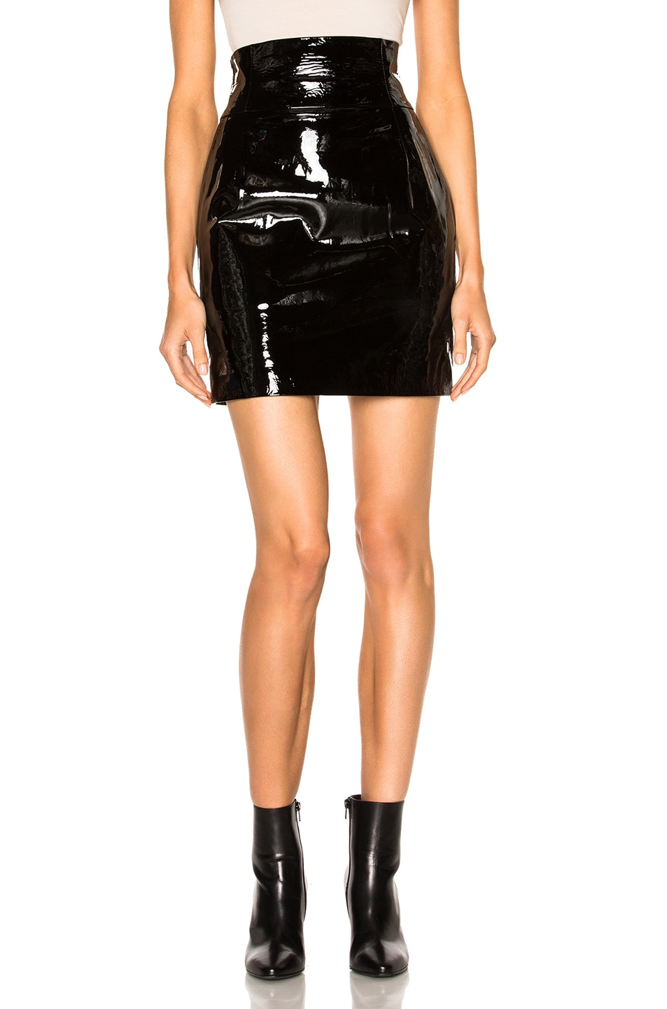 Image 1 of Alexandre Vauthier Patent Leather Skirt in Black