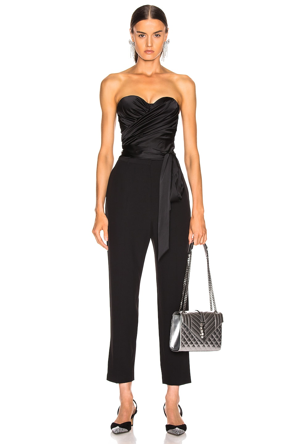 Image 1 of Alexandre Vauthier Strapless Wrap Top in Black