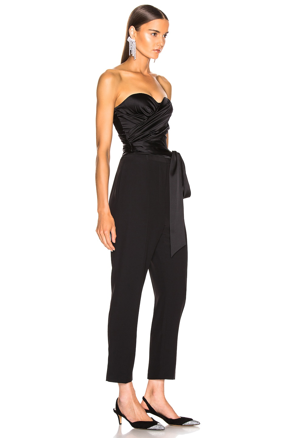 Image 2 of Alexandre Vauthier Strapless Wrap Top in Black