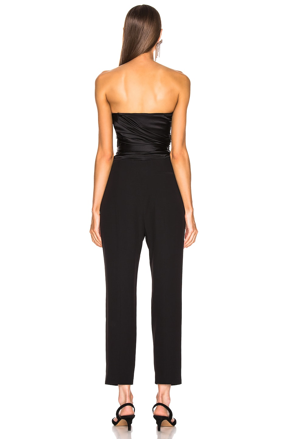 Image 3 of Alexandre Vauthier Strapless Wrap Top in Black