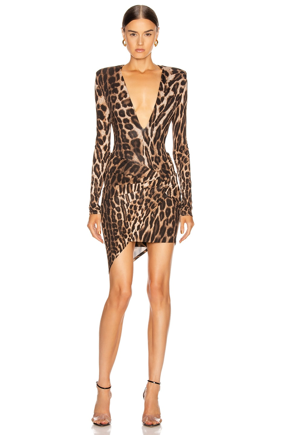 Image 5 of Alexandre Vauthier for FWRD Plunging Bodysuit in Animal