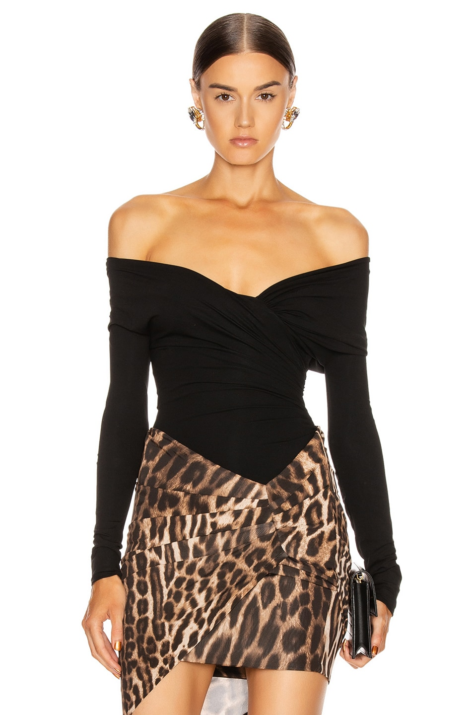Image 1 of Alexandre Vauthier Stretch Jersey Bodysuit in Black